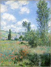 Gallery print  Way through the poppies - Claude Monet