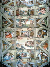 Wall sticker  Sistine Chapel ceiling and lunettes - Michelangelo