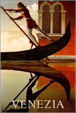 Gallery print  Gondolier in Venice - Travel Collection