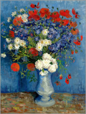 Acrylic print  Vase with Cornflowers and Poppies - Vincent van Gogh