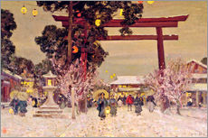 Wall sticker  View of Shinto Shrine, c.1889 - Sir Alfred East