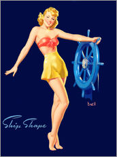 Gallery print  Pin Up - Ship Shape - Al Buell