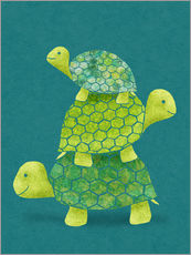 Wall sticker  Turtle Stack - Lindsey Rounbehler