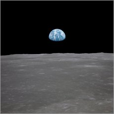 Gallery print  Apollo 11 - rising of the earth above the moon
