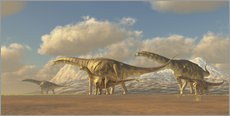 Gallery print  A herd of Argentinosaurus dinosaurs - Corey Ford