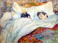 Gallery print  The Bed - Henri de Toulouse-Lautrec