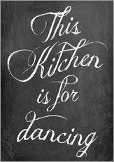 Wall sticker  This kitchen is for dancing - GreenNest