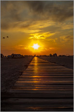 Gallery print  Evening sun in St Peter Ording on the North Sea - Dennis Stracke