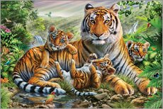 Gallery print  Tiger and Cubs - Adrian Chesterman
