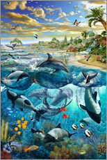 Wall sticker  Dolphin beach - Adrian Chesterman