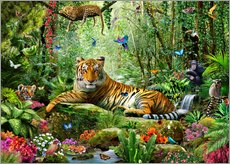 Gallery print  Tiger in the jungle - Adrian Chesterman