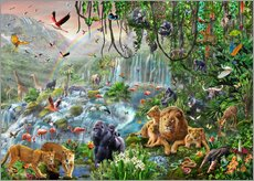 Wall sticker  Jungle waterfall - Adrian Chesterman