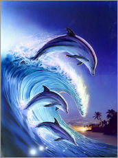 Gallery print  Riding the wave - Robin Koni