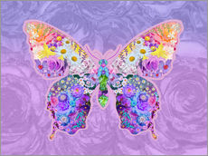Gallery print  Purple Floral Buttefly - Alixandra Mullins