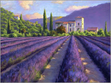 Wall sticker  Lavender field with Abbey - Jay Hurst