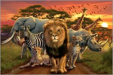 Gallery print  African beasts - Andrew Farley