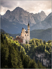 Wall sticker  Neuschwanstein Castle in front of the Alps - Andreas Wonisch