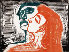 Gallery print  Man and woman is kissing - Edvard Munch
