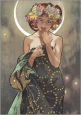 Gallery print  The Moon, detail - Alfons Mucha