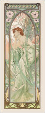 Acrylic print  Evening Contemplation, times of the day series - Alfons Mucha