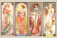 Wall sticker  The Four Seasons - Alfons Mucha