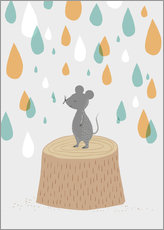 Wall sticker Mouse in the colorful rain