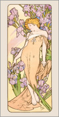 Gallery print  The Flowers - Lovely Iris - Alfons Mucha
