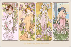 Gallery print  The Flowers - Alfons Mucha
