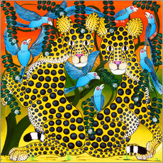 Gallery print  Cheetahs united in the twilight - Omary