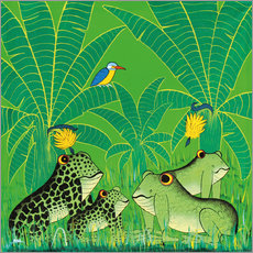 Wall sticker  Frogs in the swamp - Issa