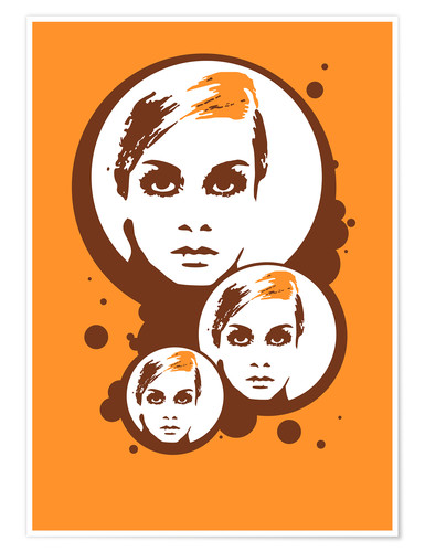 Premium poster Twiggy Mathmos Orange