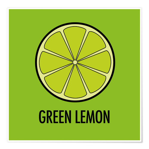 Premium poster Green Lemon Juice