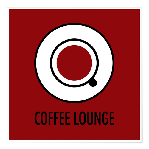 Premium poster Coffee lounge, red