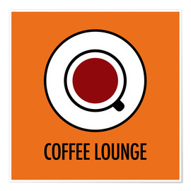 Premium poster Coffee Lounge, orange