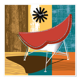 Premium poster Lounge Chair II