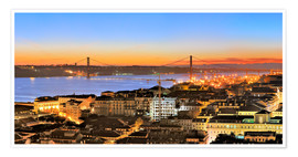 Premium poster  Panorama of Lisbon Portugal - FineArt Panorama