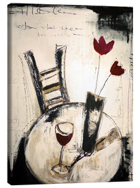 Canvas print  A glass of wine - Christin Lamade