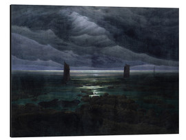 Aluminium print  Sea Shore in Moonlight - Caspar David Friedrich