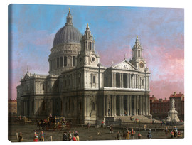 Canvas print  St. Paul's Cathedral - Antonio Canaletto