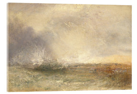 Acrylic print  Stormy sea breaking on a shore - Joseph Mallord William Turner