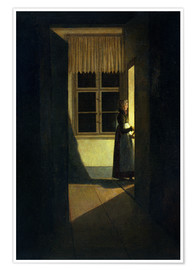 Premium poster  The Woman with the Candlestick - Caspar David Friedrich