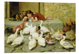 Foam board print  The Last Spoonful - Briton Riviere