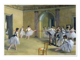 Premium poster  The Dance Foyer at the Opera on the rue Le Peletier - Edgar Degas