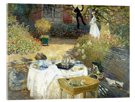 Acrylic print  The Luncheon: Monet's garden at Argenteuil - Claude Monet
