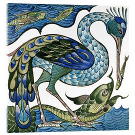 Acrylic print  Heron and Fish - Walter Crane