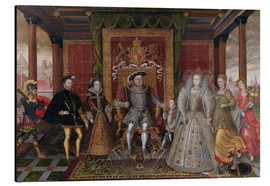 Aluminium print  An Allegory of the Tudor Succession: The Family of Henry VIII - Lucas de Heere
