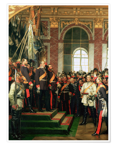 Premium poster The proclamation of the Emperor of the new German Reich
