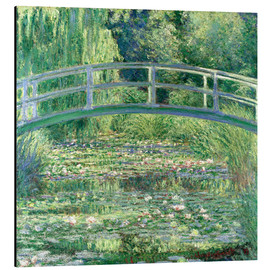 Aluminium print  White waterlilies - Claude Monet