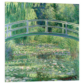 Foam board print  White waterlilies - Claude Monet