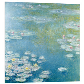 Foam board print  Nympheas at Giverny - Claude Monet